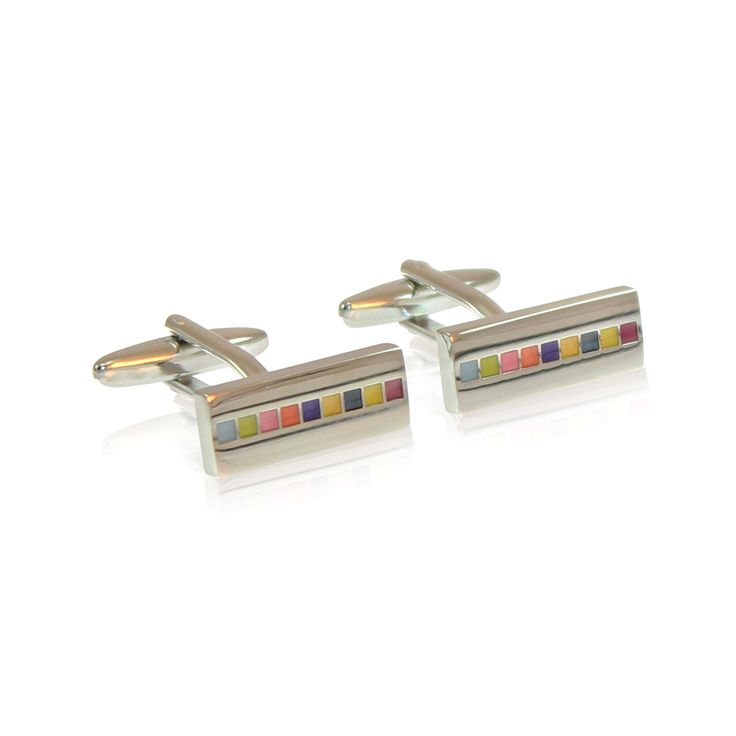 Our Artistic cufflinks are modern, playful and loved by graphic artists and designers alike. Tap into your artistic side with the elegant colour pallettes.  These cufflinks are made from solid brass with rhodium plating and are hand enamelled. The rhodium ensures a tarnish-free appearance unlike similar cufflinks made from nickel or sterling silver.  http://www.byariane.com.au/Cufflinks-Artistic