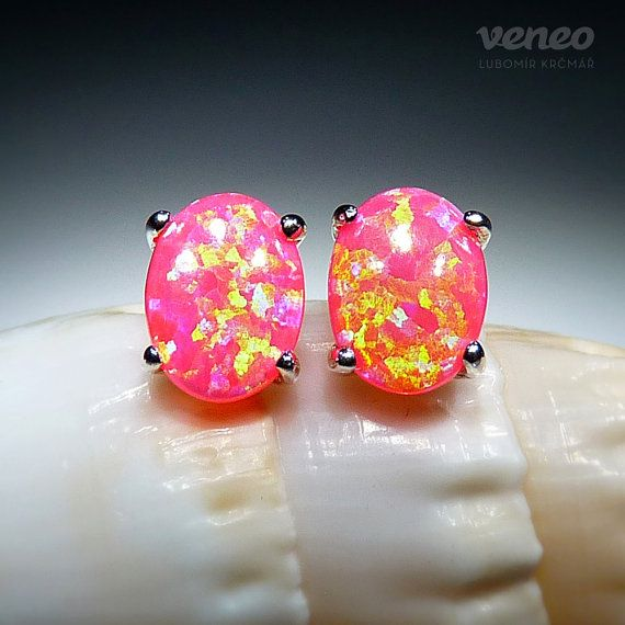 Ariana. Silver or Gold Opal Earrings all sizes by Veneo on Etsy, $64.00