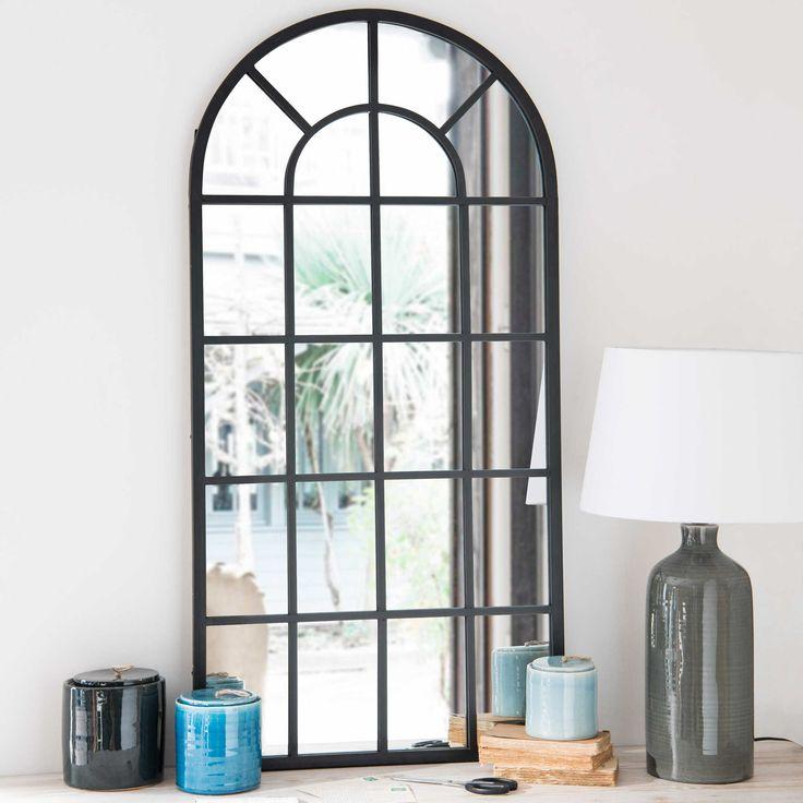 Miroir en métal noir 61x122cm VOLDA