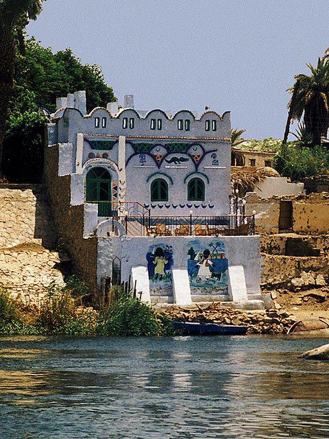 Traditional Nubian house, Gharb Sehel village, Aswan
