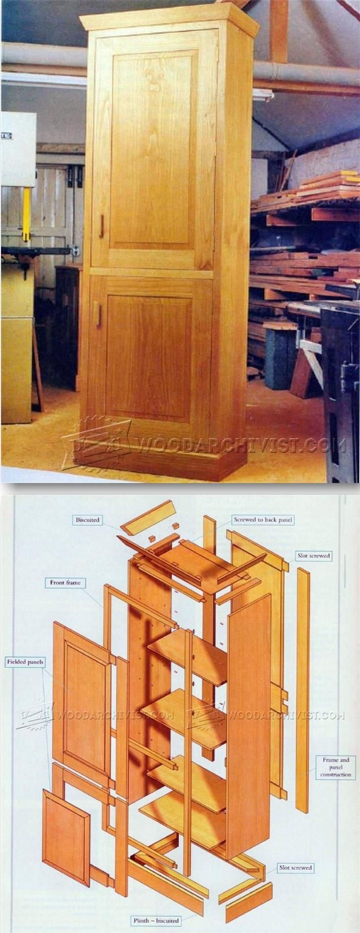Tall Cabinet Plans   Furniture Plans and Projects   WoodArchivist com. 1351 best Woodworking projects images on Pinterest   Furniture