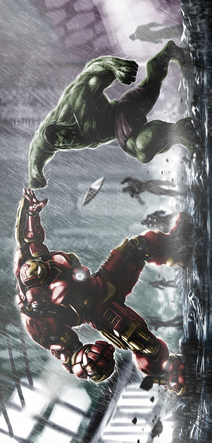 "extraordinarycomics: ""Hulk vs Iron Man by Çağlayan Kaya Göksoy. """