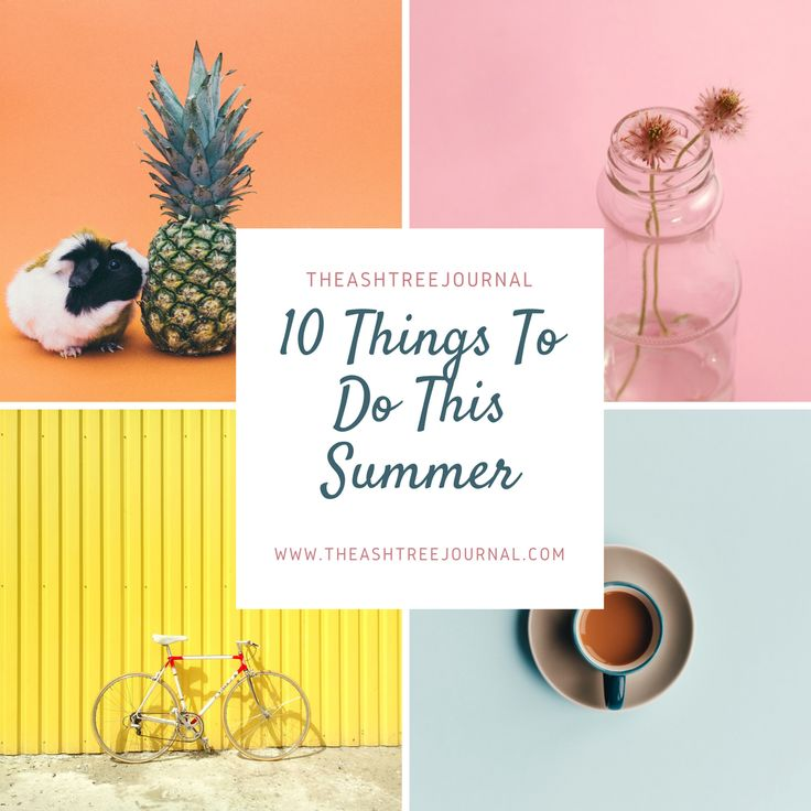 Your summer holiday doesn't have to suck completely! Here's a list of things to occupy yourself with, this summer.