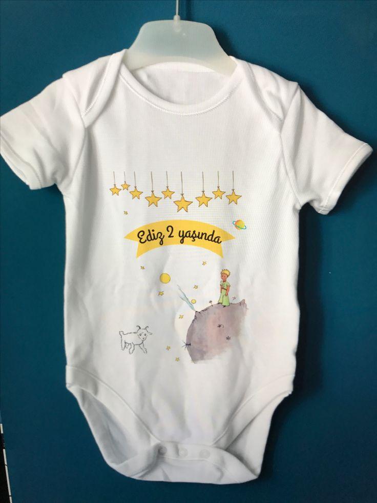 Küçük prens bebek tulumu, bir yaş fikirleri, bir yaş kostümleri, küçük prens tişört