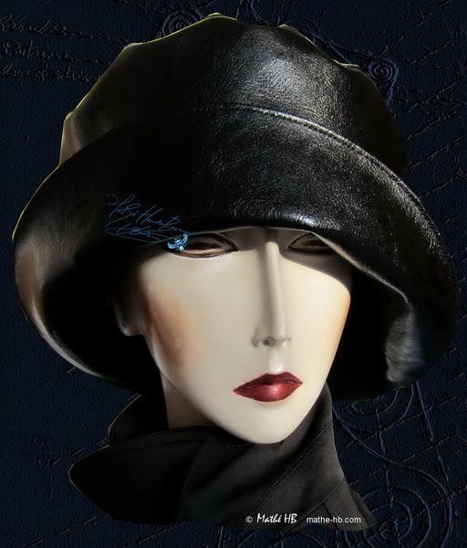 chapeau pluie noir sur commande, jours pluie ville de Mathe-HB, Naaien, gestiliseerde-hoeden, accessoires-mode sur DaWanda.com