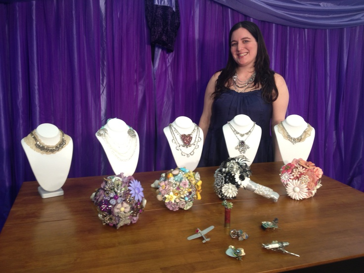 Jen Diehl From The Ritzy Rose displays their necklaces, brooch bouquets, and boutonnieres. This segment will air Sunday, February 24th at 9:30am & 9:30pm on RTV32 or Time Warner Cable 22 or 997. www.ohioweddingstv.com