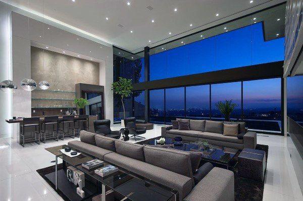 Die 50 Besten Modernen Wohnzimmerideen Zeitgenossische Designs Tatowierungen Modern House Design Contemporary Living Room Design House Design
