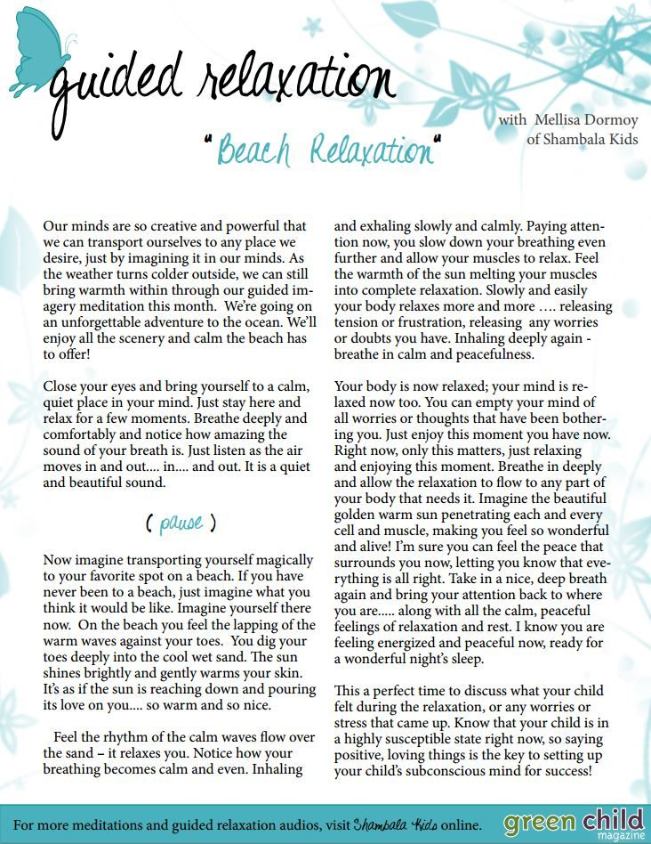 Guided Relaxation                                                                                                                                                                                 More