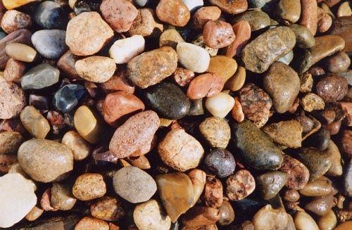multicolored smooth river rocks