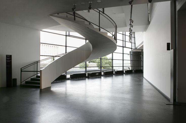 Stairs in Kiasma Theatre foyer | Photo: Finnish National Gallery / Jenni Nurminen