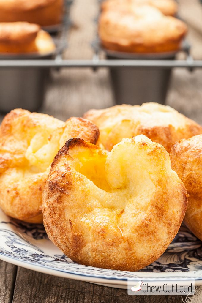 These Perfect Popovers are incredible. They're golden crisp on the outside and chewy soft on the inside. Puffy, buttery, and irresistible.