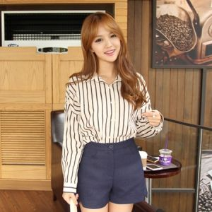 Korea Womens Luxury Shopping Mall [mimindidi] Proxy ♡ nb / Size : FREE / Price : 48.45 USD #korea #fashion #style #fashionshop #apperal #luxury #lovely #mimididi #top #blouse #shirt #dailylook #stripe