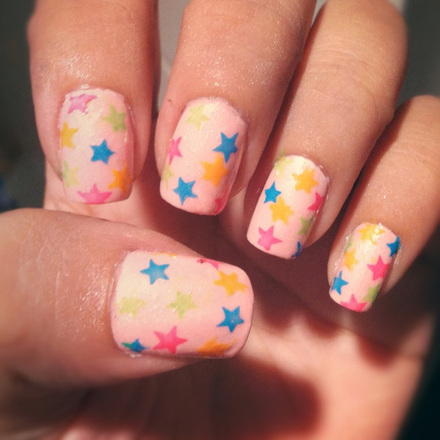 colorful stars.: Nail Art Inspiration ️, Colorful Stars, Coolstuffz, Nails, Pretty