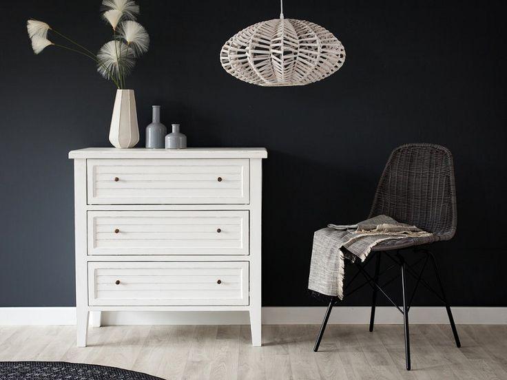 Commode en bois 3 tiroirs ouessant amadeus meubles pas - Commode miroir pas cher ...