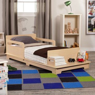 I love this toddler bed...the bench makes it and very cool bonus
