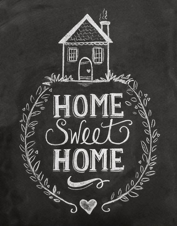 Home Is Where Your Heart Is Pizarron Impresiones En Pizarra