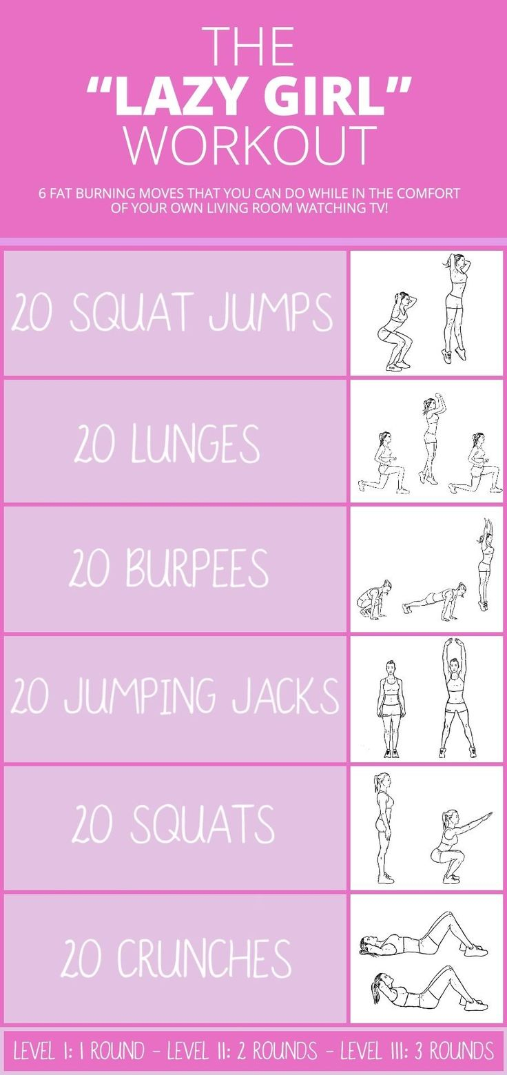 Lazy Girl Workout [INFOGRAPHIC] - 6 Amazing Fat Burning Moves You Can Do Anywhere!  #lazygirl #workout #infographic #infographics