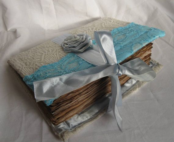 Rustic Romantic Wedding Guest Book Journal by PurpleBirdShop