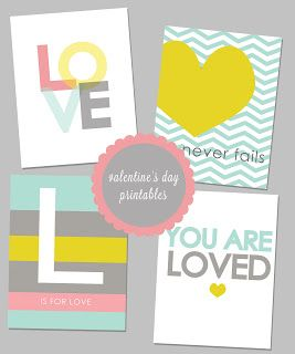 Love these colors. :: Free Valentine's Day Printables from Emily Strawn Photography