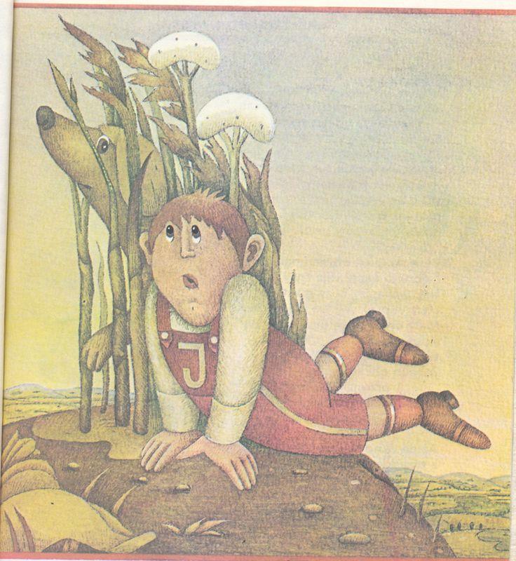 Chrząszcz w trzcinie (1988) by Hanna Łochocka  Illustration by Elżbieta Gaudasińska