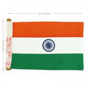 Indian Flag | for Cars | Khadi Cotton | with Holder | ISI Marked Size: Medium Material: Khadi Cotton Dimensions: 9×6 Inches Package Contents: 1 Medium Size Car Flag Ideal Pole Height: NA Product Weight in GMS: 40