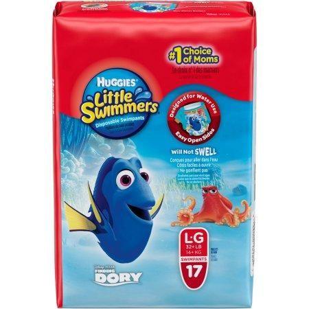 HUGGIES Little Swimmers Disney Pixar Finding Dory,Swimpants, Size Large, 17 Swimpants