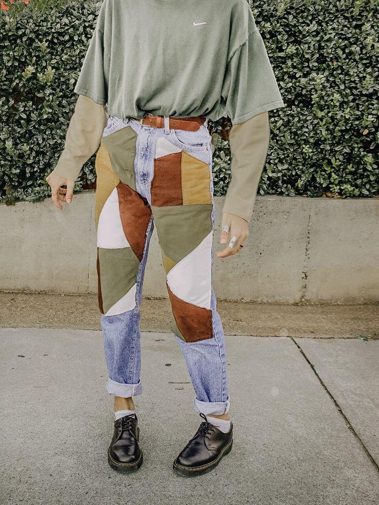 geometrische diy Jeans