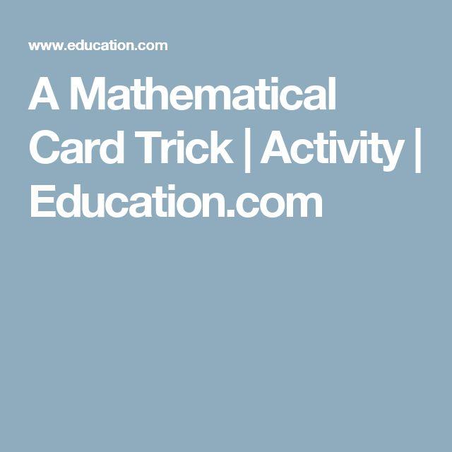 A Mathematical Card Trick | Activity | Education.com