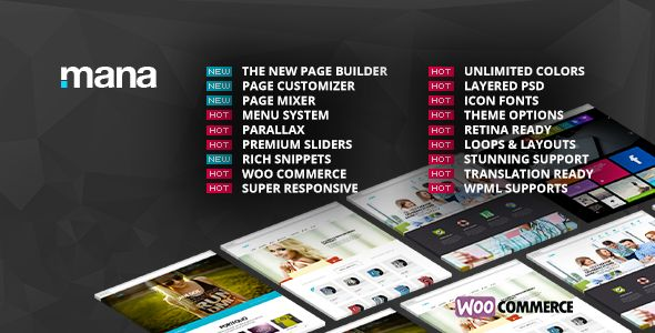 "Mana v1.8.4 – Themeforest Responsive Multi-Purpose Theme:  Mana"" is the best choice for your creative website creators. Built on the powerful bootstrap 3 framework, you can craft your web creation completely that works perfect for showcasing any kind of business online."