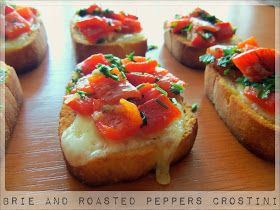 Daily Meal: Brie and Roasted Peppers Crostini- Appetizers August (3)