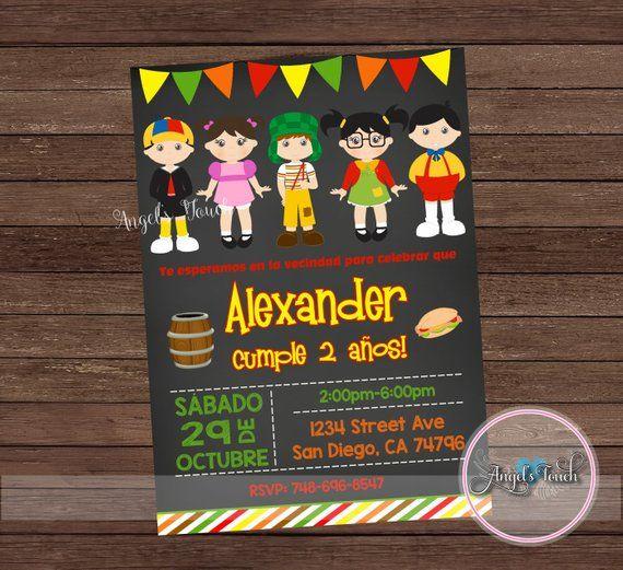 Invitación Fiesta De El Chavo Del Ocho Chavo Del Ocho Y La