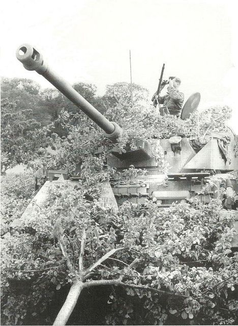 A heavily camouflaged Panzer IV from 12th SS Panzer Division Hitlerjugend, Normandy.
