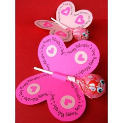 Printable Lollipop Butterflies and Flowers for Spring #Valentine's Day #crafts #DIY #heart