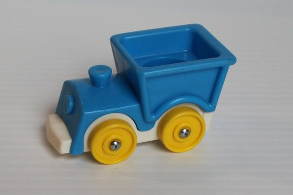 FISHER PRICE Little People Blue Ride on Train, vintage Little People toy, vintage train toy,gift for child,blue gift for child,toy for child