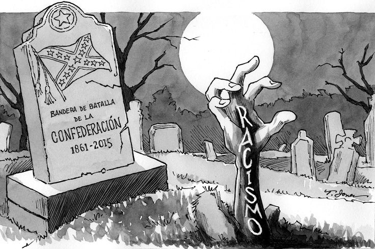"""BANDERA CONFEDERADA. El retiro de la bandera de la Confederación, izada en el Capitolio de Columbia, Carolina del Sur, desde 1961, es un acto significativamente simbólico contra el racismo, presente en la matanza de nueve personas de la raza negra a manos de un supremacista blanco en una iglesia de Charleston. """"Hay poder en la sangre de los mártires"""", proclamaba el reverendo Jesse Jackson. Un poder que debe obligar a derrumbar esos muros de prejuicios y maldad que siguen todavía segregando a…"""