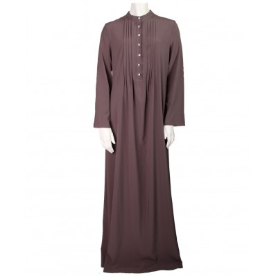 CONCEPT FRONT PLEATED TAUPE ABAYA DRESS $84.99
