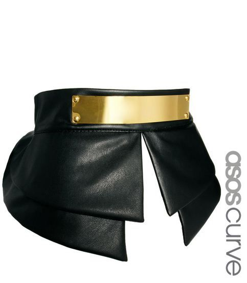 {Inspiration} Faux Leather Peplum Belt