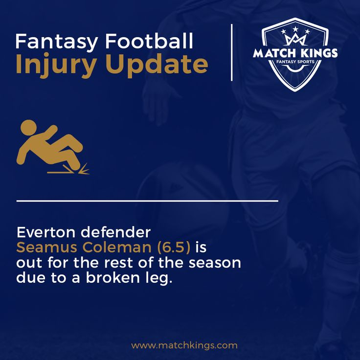 After suffering a horrific injury, Everton FC will be without their key defender for the season. He was a Fantasy Football favourite on www.matchkings.com! #MatchKhelo #pl #fpl #fantasysoccer #soccer #fantasyfootball #football #fantasysports #sports #fplindia #fantasyfootballindia #sportsgames #gamers  #stats  #fantasy #MatchKings