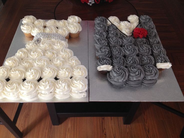 wedding cakes made with buttercream frosting wedding dress and grooms jacket cupcake cakes chocolate 24965