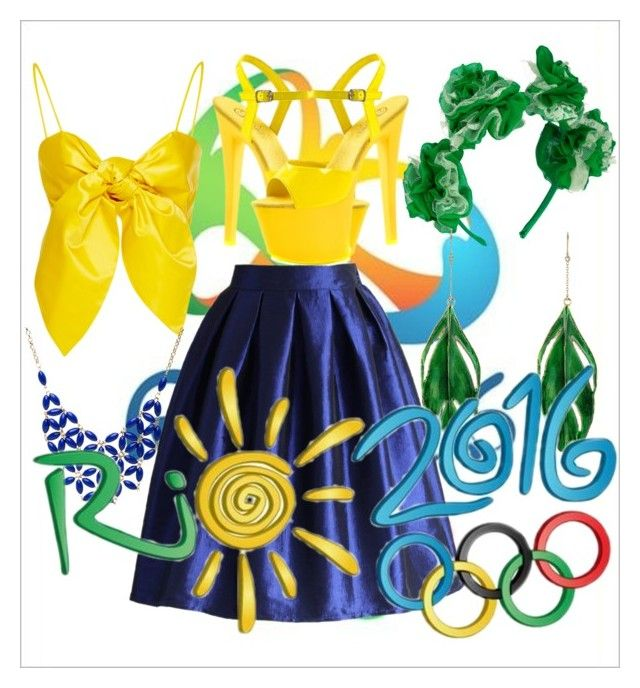 Rio 2016 Olympic games by slytheriner on Polyvore featuring polyvore fashion style Chicwish Pleaser Aurélie Bidermann Alexa Starr clothing
