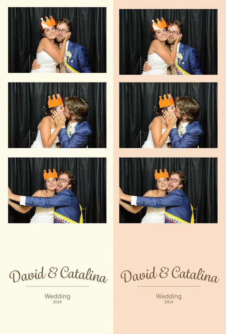 Este es un ejemplo de unas fotos personalizadas para el matrimonio de Cata y David. Recuerda, una tira es tu recordatorio y el otro el de tus invitados.