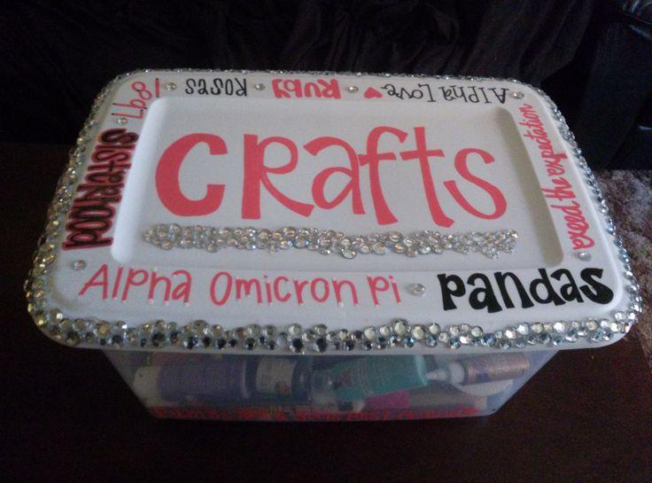 Craft bin! #AOII #AlphaOmicronPi #DIY #Crafts #Crafting