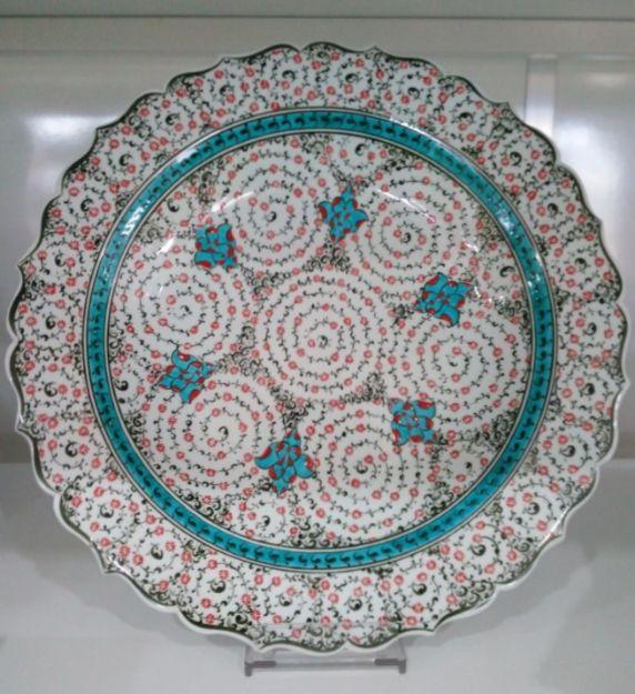 "TURKISH CERAMIC PLATE, 40 cm (15.7""), GOLDEN HORN"