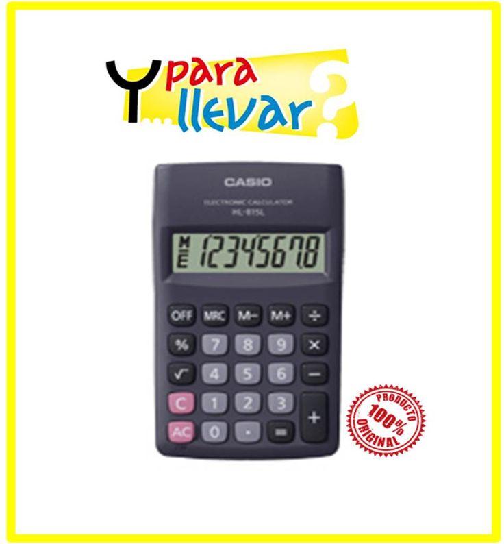 Calculadora CASIO Bolsillo HL 815L-BK #YParaLlevar $7.500