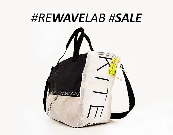 Rewave Lab upcycled kite sail bags & accessories