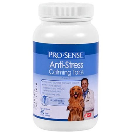 These are incredible for the high-strung furry person in your life! We've used them on our somewhat neurotic german shepherd mix and couldn't believe how mellow she was!  I also really love that they use natural ingredients... - ProSense Anti-Stress Calming Tablets, 60 Tablets for $5.50 - Walmart