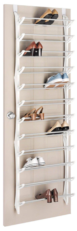 Amazon.com: Whitmor 6486-1746-WHT Over-The-Door Shoe Rack, 36-Pair, White: Home & Kitchen