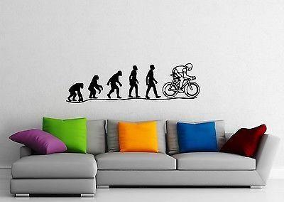 Wall Sticker Vinyl Decal Darwin's theory of evolution Monkey Man Joke Unique Gift (ig1131)