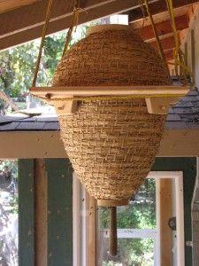 "The Sun Hive (""Weissenseifener Haengekorb"") was designed by the German sculptor Guenther Mancke."