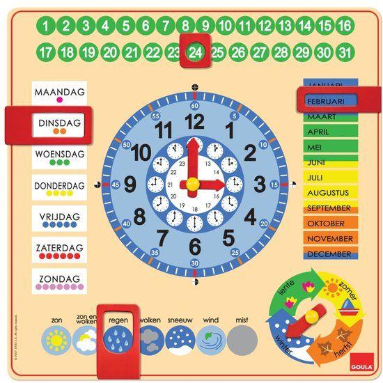 bol.com | Goula Houten Kalenderklok - Leerklok,Jumbo | Speelgoed